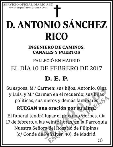 Antonio Sánchez Rico